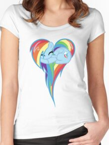 Heart Of Rainbow Dash Women's Fitted Scoop T-Shirt