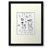 Louis Tattoos Framed Print