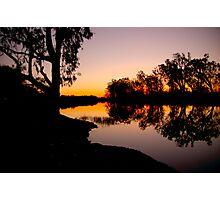 Night Falls on the Murray Photographic Print