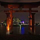 Torii Gate Japan Pavilion Epcot  by John  Kapusta