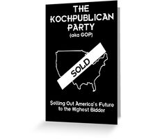 Kochpublican Party Greeting Card