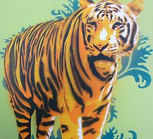 Wallpaper Tiger by Nicole Tattersall