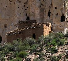 Pueblo Ruins in Bandelier National Monument, New Mexico by Catherine Sherman