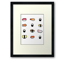 Lots of sushi! Framed Print