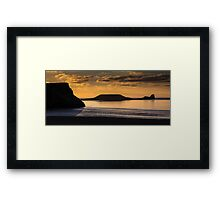 Sunset at Worm's head  Framed Print