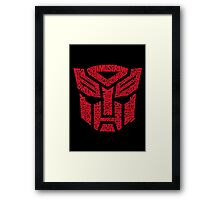 Transformers Autobots Red Framed Print