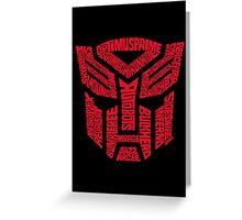 Transformers Autobots Red Greeting Card