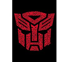 Transformers Autobots Red Photographic Print