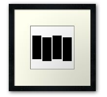 Black F Framed Print