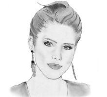 Emily Bett Rickards Drawing by jstne03