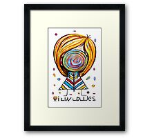 I Love Lollies Framed Print