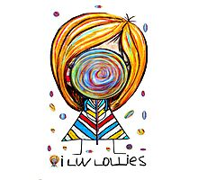 I Love Lollies Photographic Print