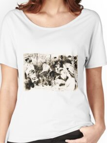 "Trace Monotype after Renoir's ""The Luncheon Of The Boating Party"" Women's Relaxed Fit T-Shirt"