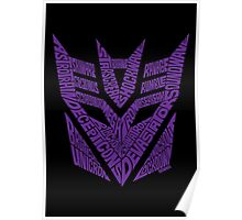 Transformers Decepticons Purple Poster
