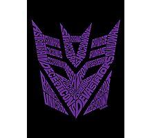 Transformers Decepticons Purple Photographic Print