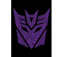 Transformers Decepticons Purple Photographic Print