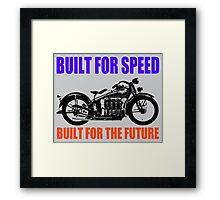 MOTORCYCLE (1930'S)-2 Framed Print