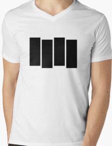 Black F Mens V-Neck T-Shirt