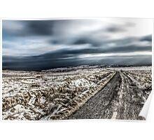 Road on winters hill Poster