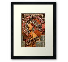 Savonnerie de Bagnolet by Alphonse Mucha (Reproduction) Framed Print