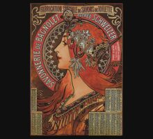 Savonnerie de Bagnolet by Alphonse Mucha (Reproduction) T-Shirt