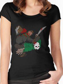 MILLER SLASHER FIGHT Women's Fitted Scoop T-Shirt