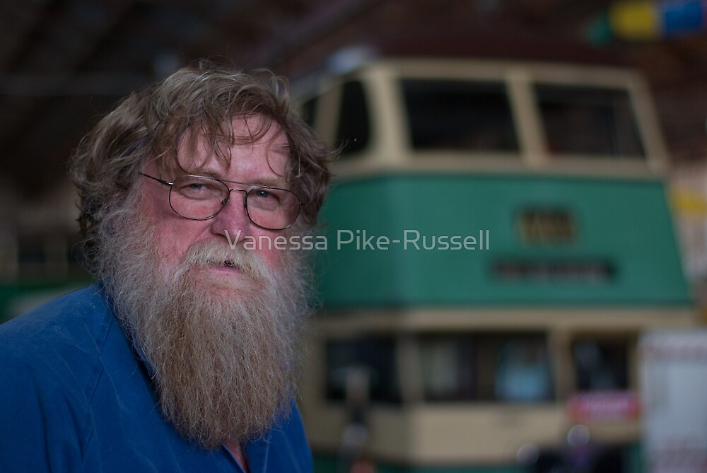 Keith Ryan at Sydney Bus Museum by Vanessa Pike-Russell