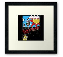 8 Bit Sun Knight Framed Print