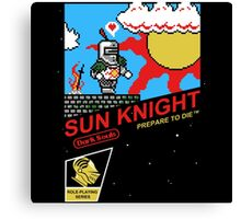 8 Bit Sun Knight Canvas Print