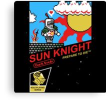 8 Bit Sun Knight Canvas Print