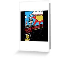 8 Bit Sun Knight Greeting Card