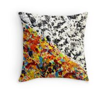 Abstract Painting Modern Original Art Acrylic Titled: Travel More Throw Pillow