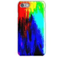Abstract Painting Modern Original Art Acrylic Titled: Wild Colorful Mashup iPhone Case/Skin