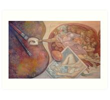 Creation (after Michelangelo's Creation of Adam) Art Print