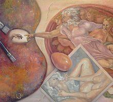 Creation (after Michelangelo's Creation of Adam) by Jodi Stewart