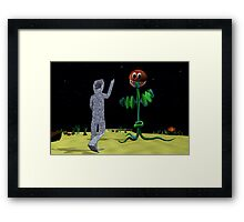 Origami Man and Venus Fly Trap Framed Print