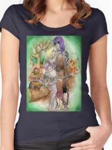 Medieval Dark Magicians Women's Fitted Scoop T-Shirt