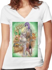 Medieval Dark Magicians Women's Fitted V-Neck T-Shirt