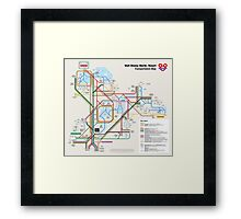 Walt Disney World Transportation as a Subway Map Framed Print