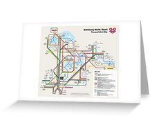 Walt Disney World Transportation as a Subway Map Greeting Card