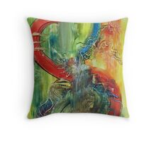 Rivers of belief Throw Pillow