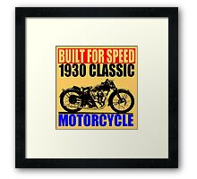 1930 MOTORCYCLE Framed Print