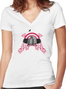 murder Women's Fitted V-Neck T-Shirt