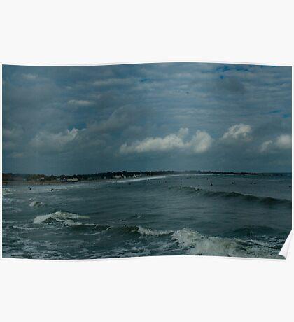 Narragansett Beach after the Storm Poster