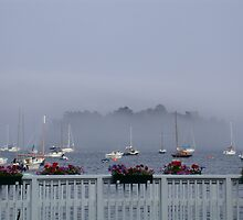 Curtis Island in the Fog by LifeInMaine
