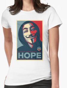 Anonymous - Hope Womens Fitted T-Shirt