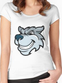 Crazy Wolf Women's Fitted Scoop T-Shirt