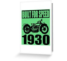 1930 MOTORCYCLE-2 Greeting Card
