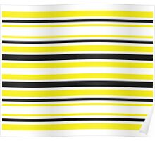 Bumble Bee Stripes Poster