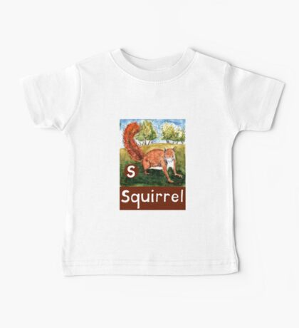 S is for Squirrel Baby Tee
